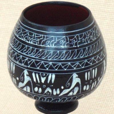 画像3: ヒッタイト柄ワインカップ(小)ブラック