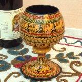 ヒッタイト柄ワインカップ(大)イエロー