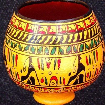 画像4: ヒッタイト柄ワインカップ(小)イエロー