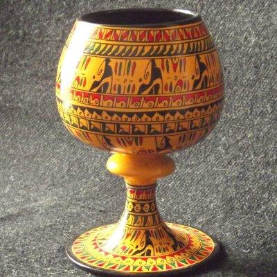 画像2: ヒッタイト柄ワインカップ(大)イエロー