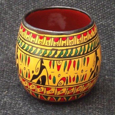 画像2: ヒッタイト柄ワインカップ(ミニ)イエロー