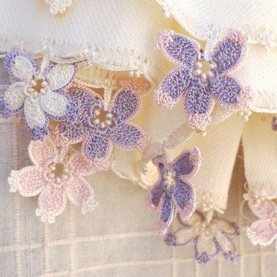 画像3: パシュミナストール「桜/2辺」ミルクホワイト