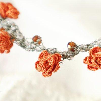 画像3: ネックレス「ローズ・クリスタル」スイート・オレンジ