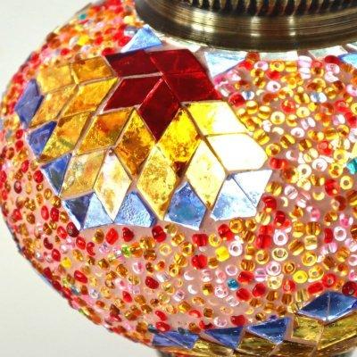 画像4: モザイクランプ デスクタイプ(大)「サンセット・オレンジ」